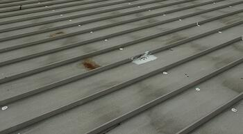 metal flat roof