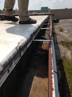 Gutters on flat roof