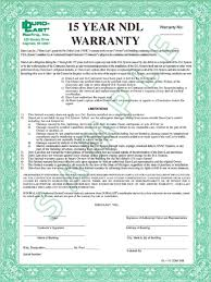 Flat/Residential & Commercial Roof Product Warranties
