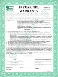 sample warranty