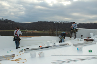 flat roof install