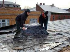 tear off, flat roof