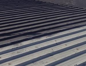 black metal roof