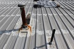 leaking metal roof