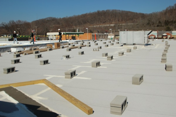 Shopping Center in Vevay, Indiana Receives a New Roof and Look