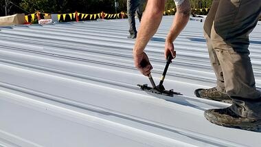 238T standing seam metal roof mechanically attached