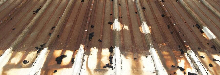 Metal roof repair rusted