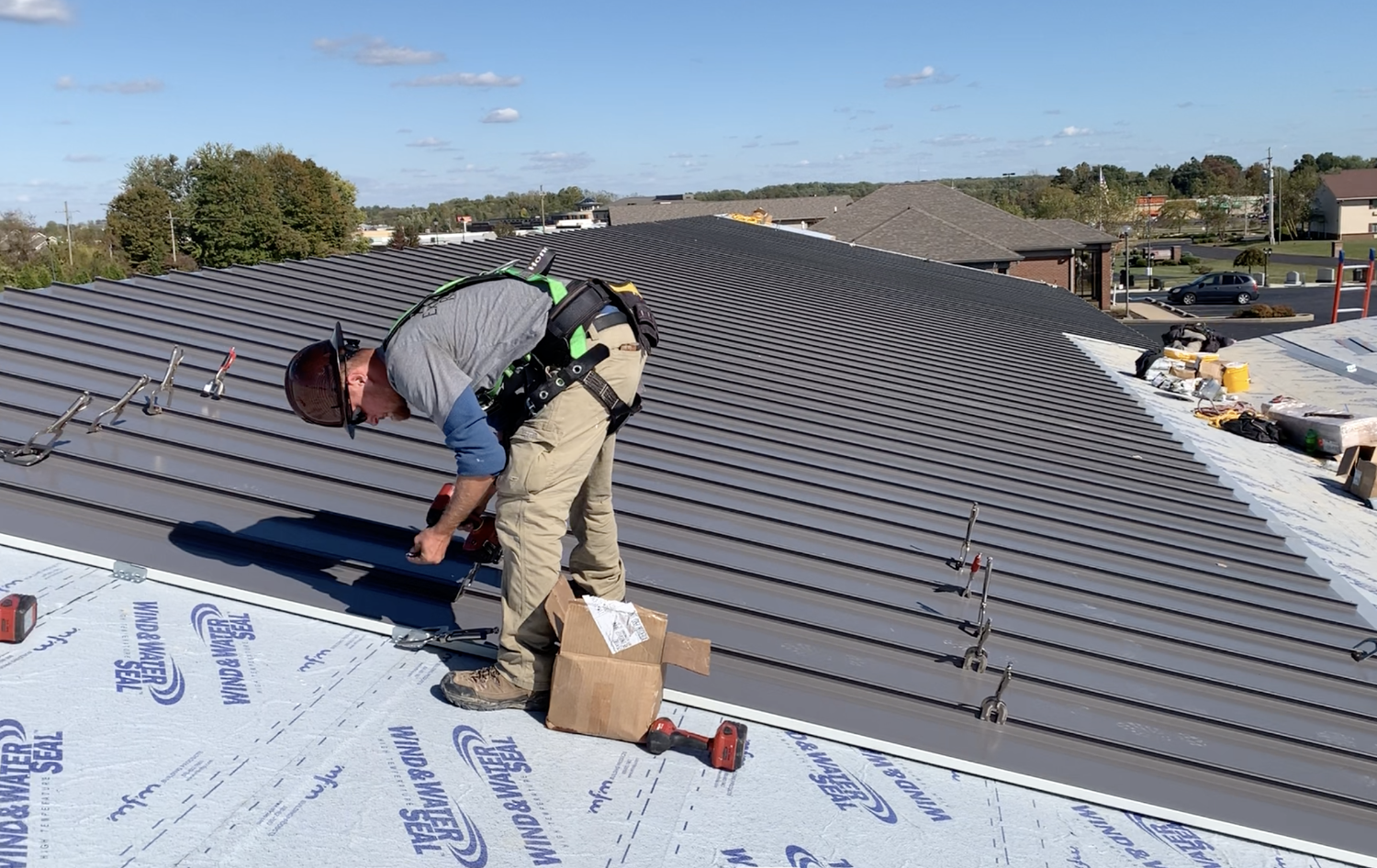 Standing Seam Metal Roof Installation