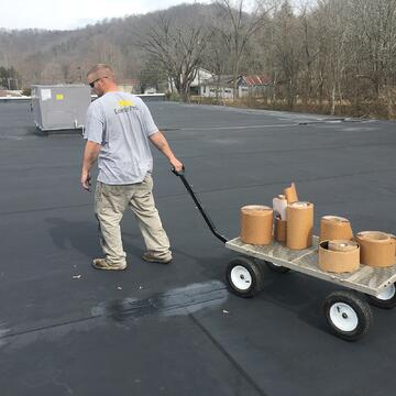 Repairing rubber roof