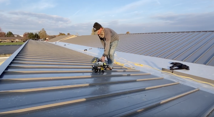 Standing Seam Metal Roof Seams