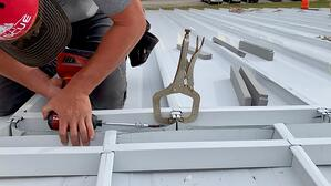 Standing Seam Metal Roof interlocking pieces