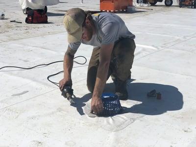 Flat Roof Repair Roof Drain Welding- Absac