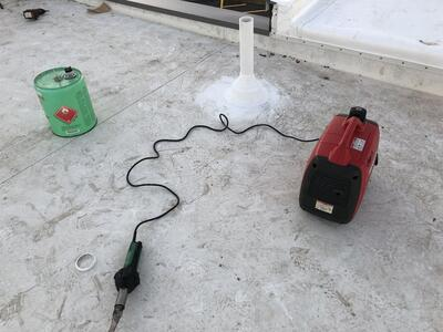 Flat Roof Installation Welding-Louisville
