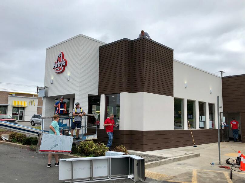 Metal Coping Installation Progress-Clarksville