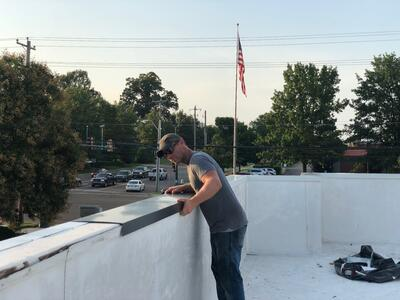 Arbys Metal Coping Installation Flat Roof Repair-Collierville