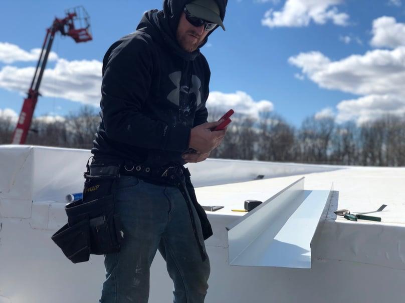 Metal Coping Installation Flat Roof Repair- Crawfordsville