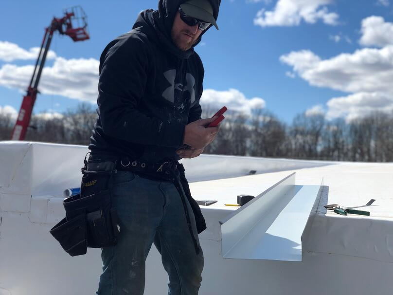 Metal Coping Installation Flat Roof Repair- Crawfordsville
