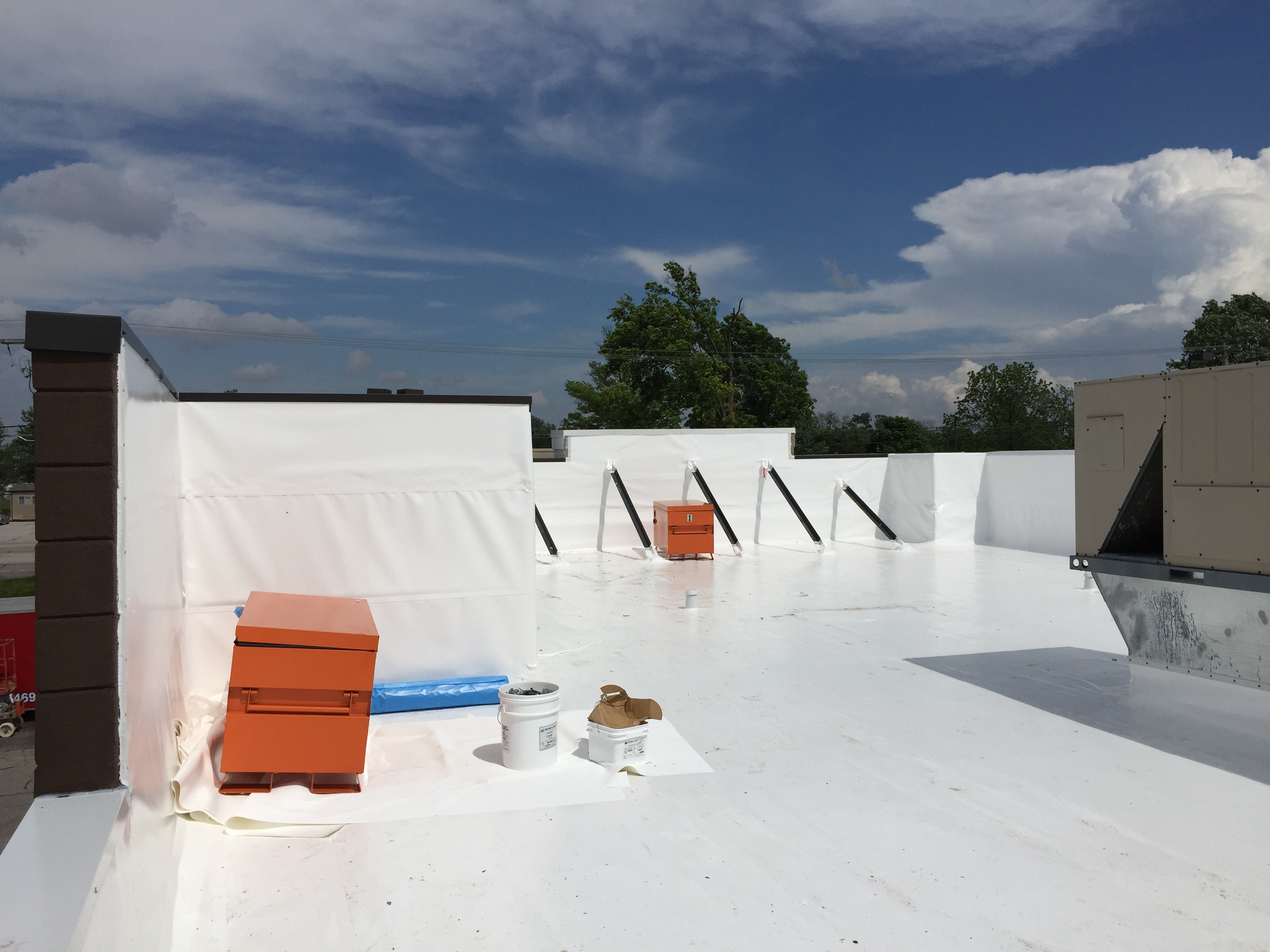 Flat Roof Repair Welding Complete- Franklin