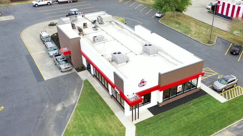 Arbys Greensburg Indiana New standing seam Metal Roofing-1
