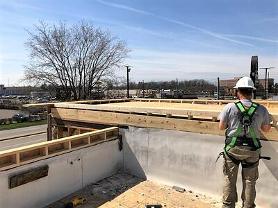 Flat Roof Construction Progress- Indianapolis