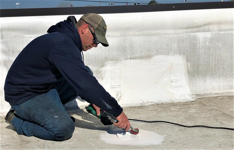 Arby S Flat Roof Repair Amp Metal Coping Installation