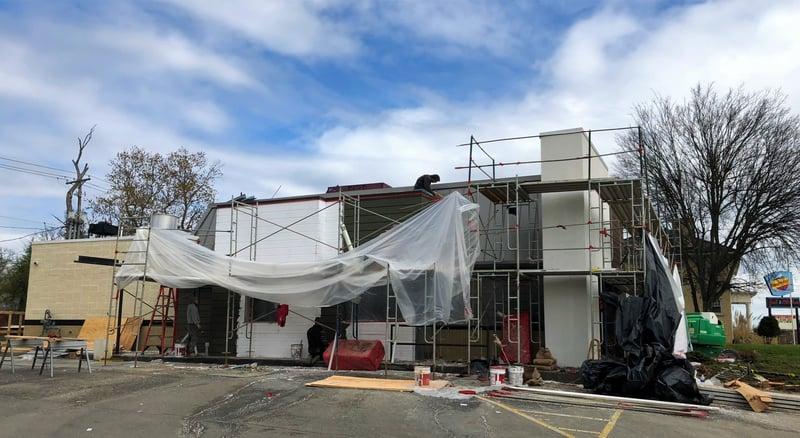 Standing Seam Metal Coping Installation-Magnolia