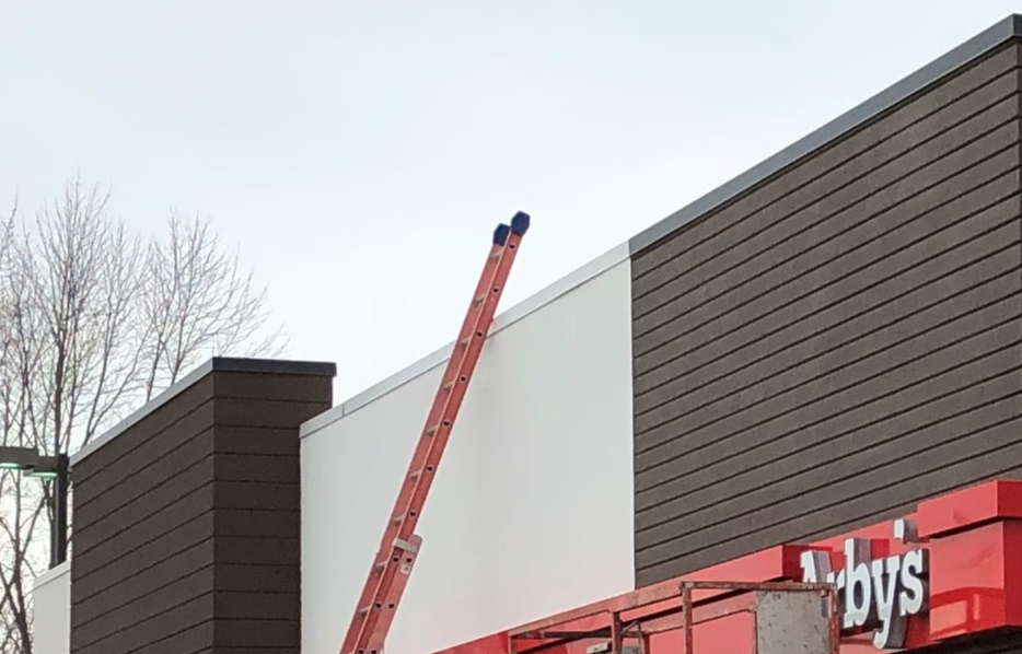 Flat Roof Repair Metal Coping- New Castle