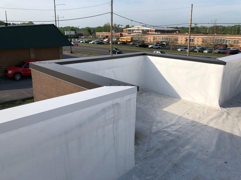 Flat Roof Repair Metal Coping Installation-Tullahoma