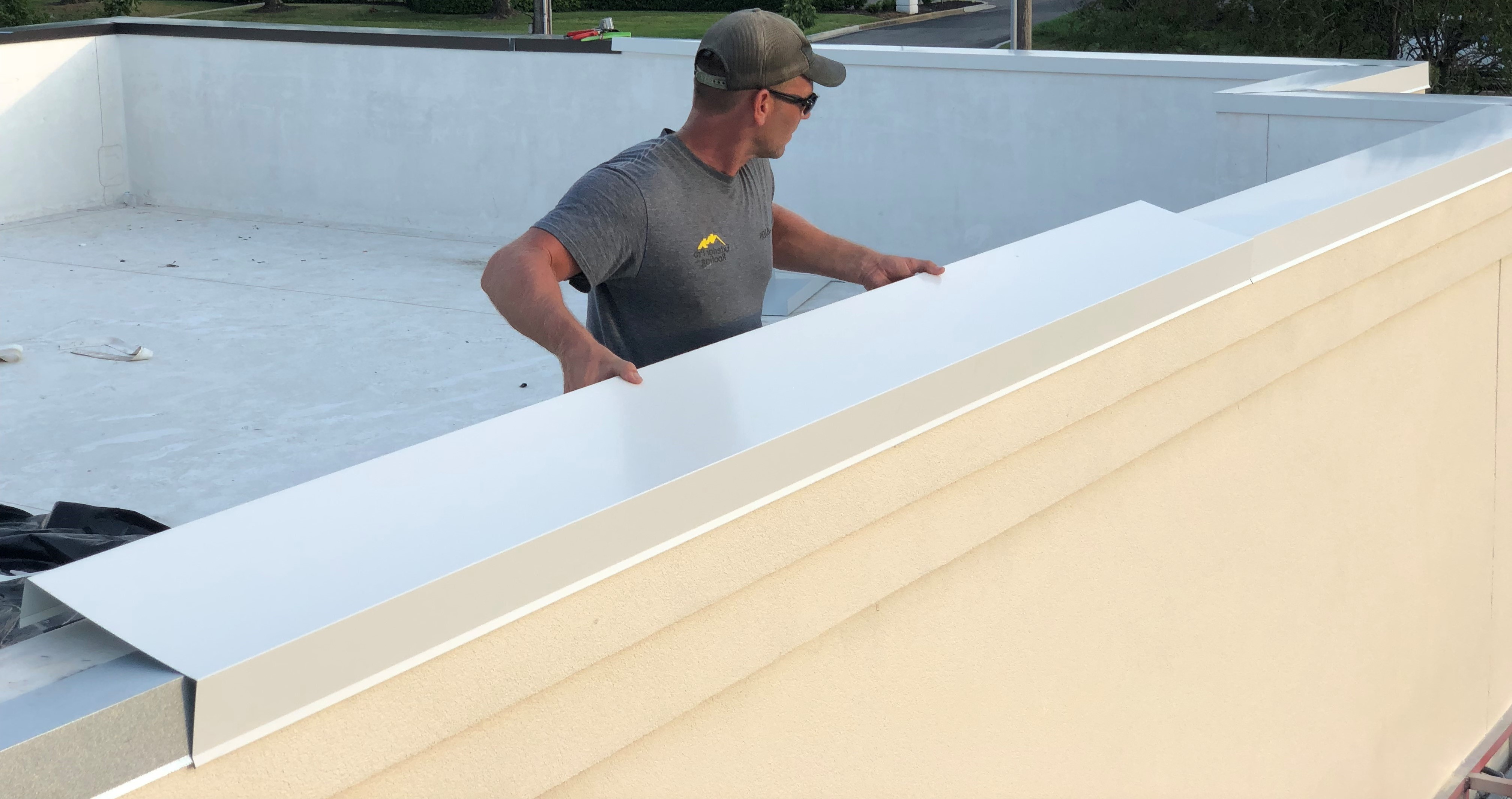 Metal Coping Installation Flat Roof Repair-Winchester