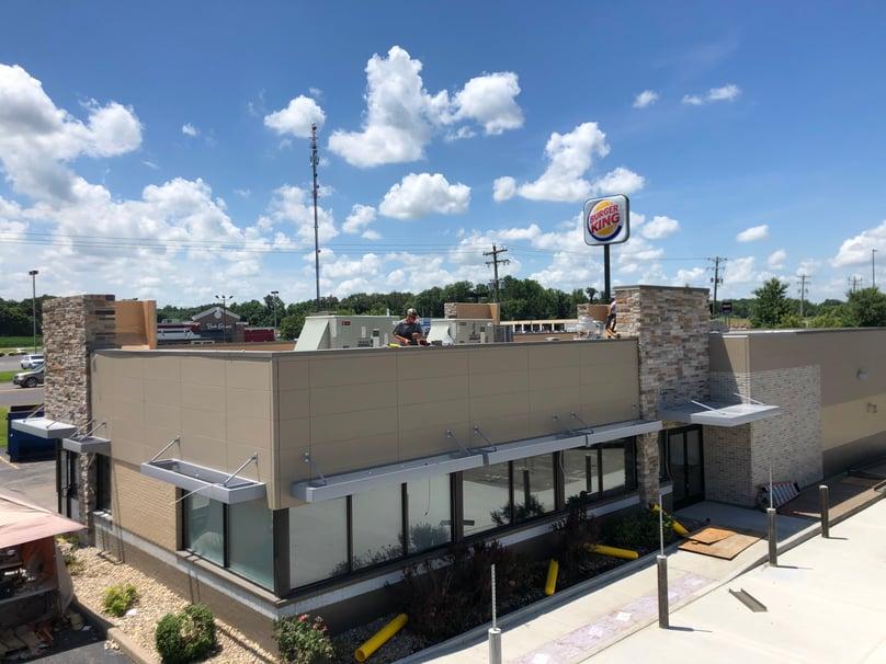 Flat Roof Metal Coping Installation- Princeton