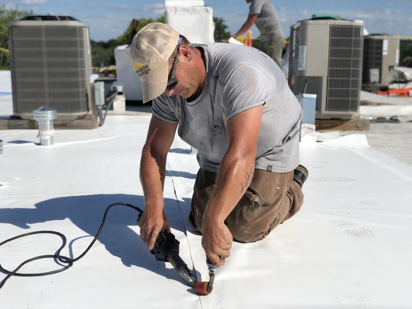 Flat Roof Repair Duro-Last Welding- Louisville