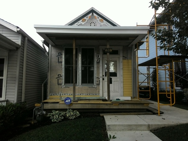 Box Gutter Repair On Historic Home Madison Indiana
