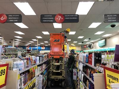 Interior Ceiling Panel Replacement Installation- CVS Madison