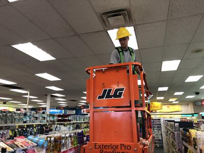 Interior Ceiling Panel Replacement Lift-CVS Madison
