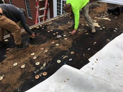 Flat Roof Repair Rhinobond Plate Removal- CU