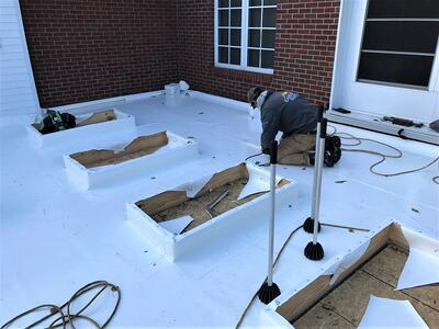 Skylight Repair PVC Roofing- CU