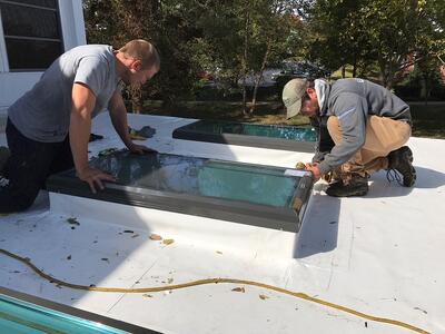 Skylight Repair Flat Roof- CU