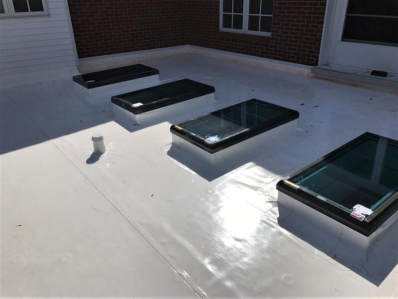 Skylight Repair Flat Roof Repair Complete- CU