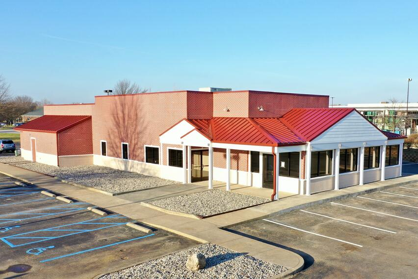 Standing Seam Metal Roof Campbellsville Building Coping and flat pvc roof
