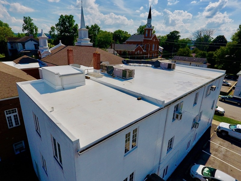 Flat Roof Repair Finished Overview-First Baptist Church  2-1.jpg