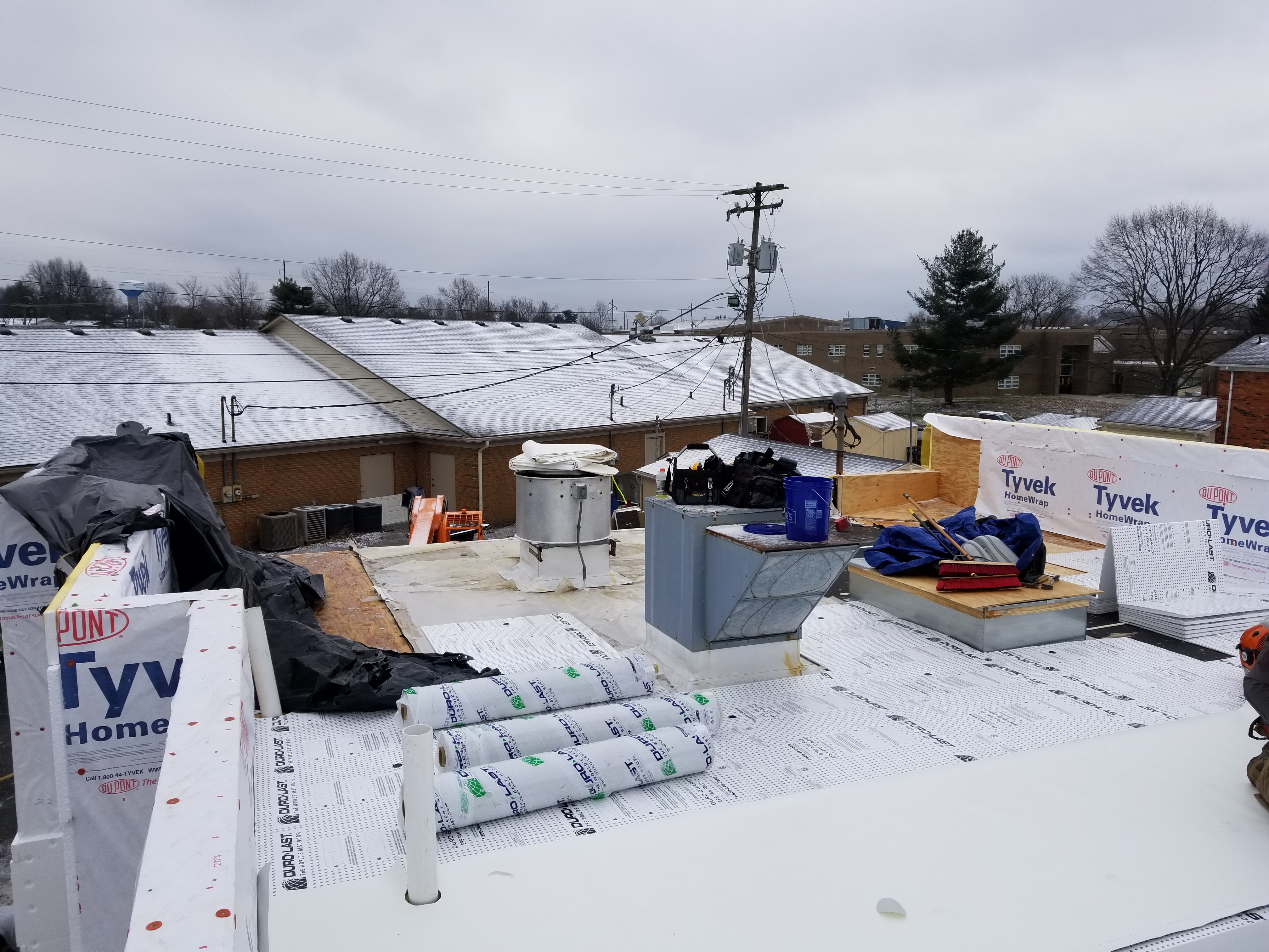 Flat Roof Complete Installation PVC Membrane- Versailles, KY