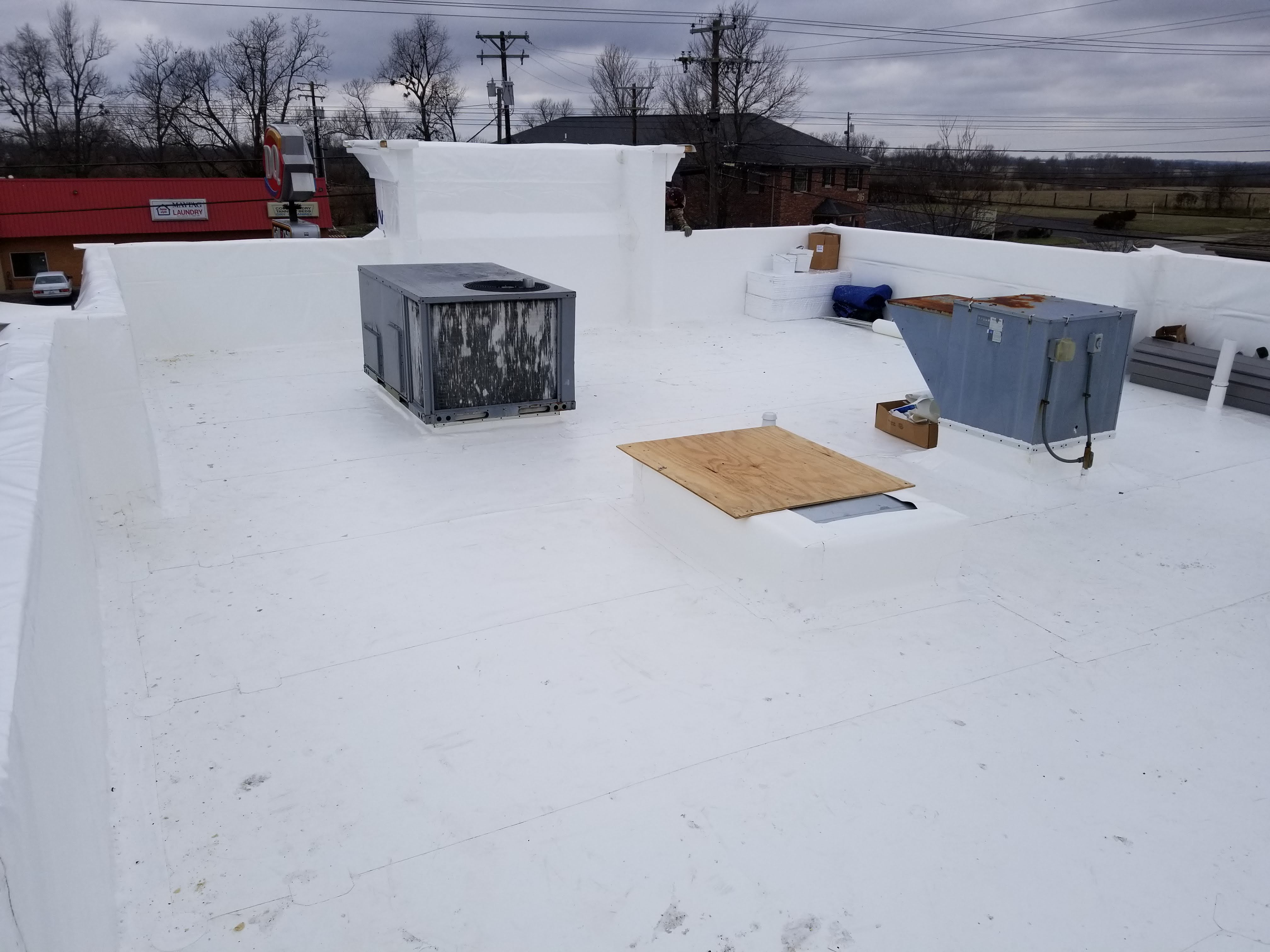 Flat Roof PVC Mebrane Vent Completion- Versailles, KY