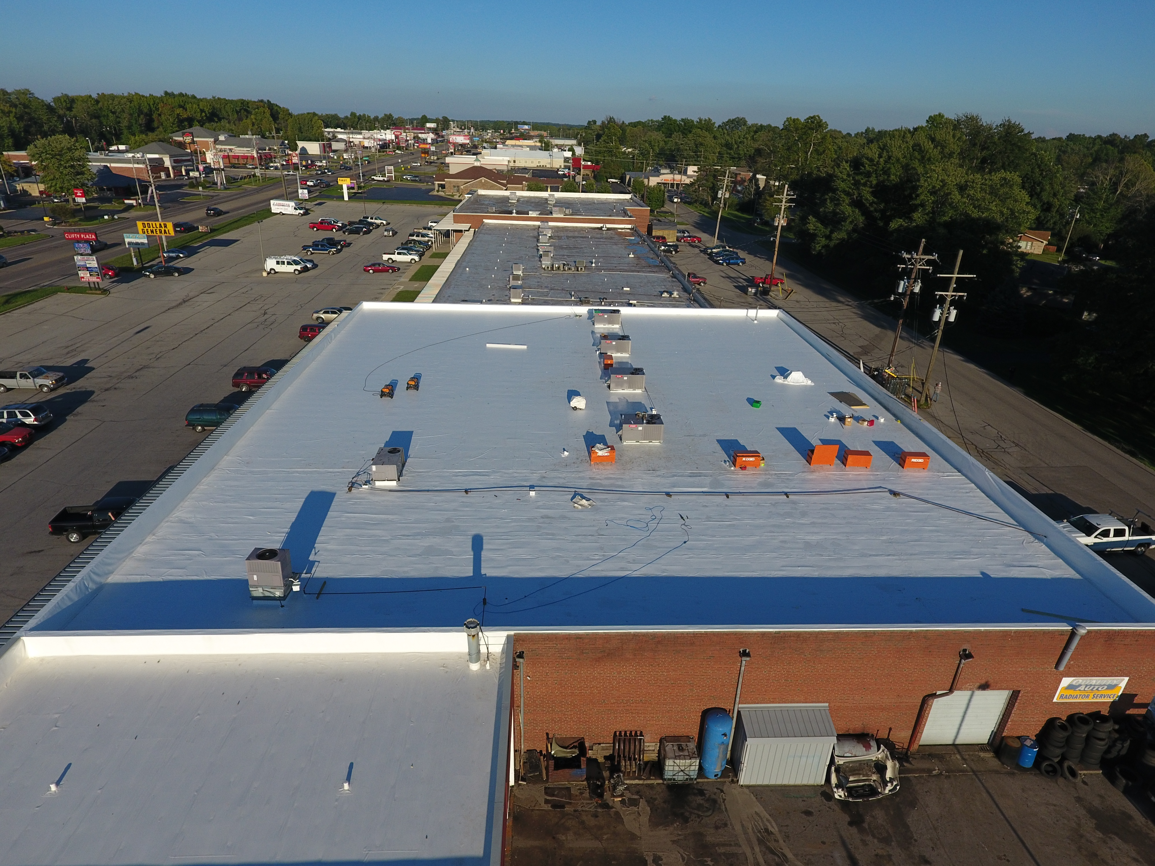 Commercial Flat Roof Installation-Madison