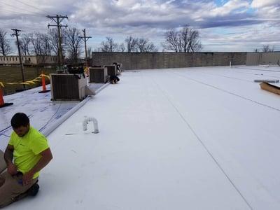Metal Roof Repair Flat Roof Membrane- Lexington KY
