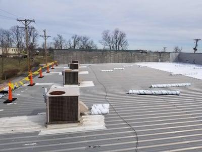 Metal Roof Repair Progress- Lexington KY