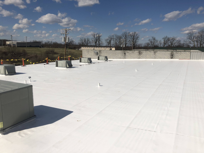 PVC Membrane Flat Roof Installation- Lexington KY