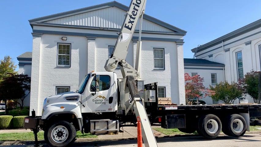 Standing Seam Metal Roof First Baptist Installation