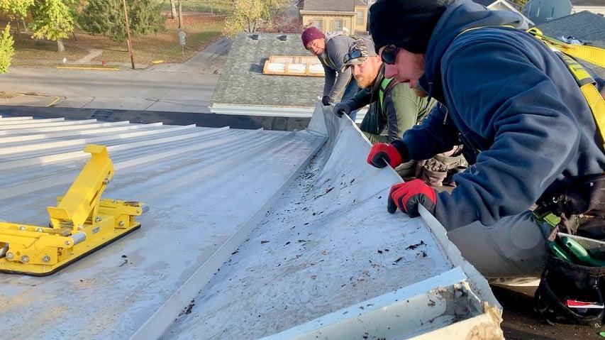 Standing Seam Metal Roof First Baptist repair