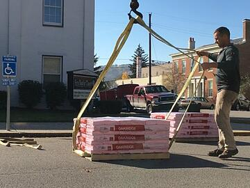 Commercial shingle roof installation