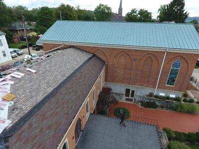 Shingle Roof Installation Arial View-Madison